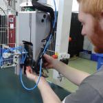 Arbeit am Roboter