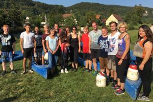 Azubi Tour 2016 - Spritzige Kajaktour mit Höhlenbarbecue